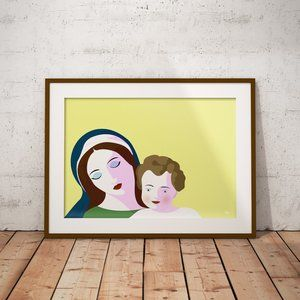 Mother and Child illustration